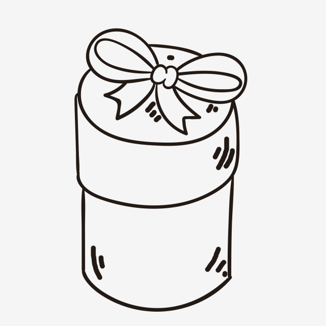 640x640 Sketch Gifts Gift Romantic Gift Box, Line Drawing, Sketch