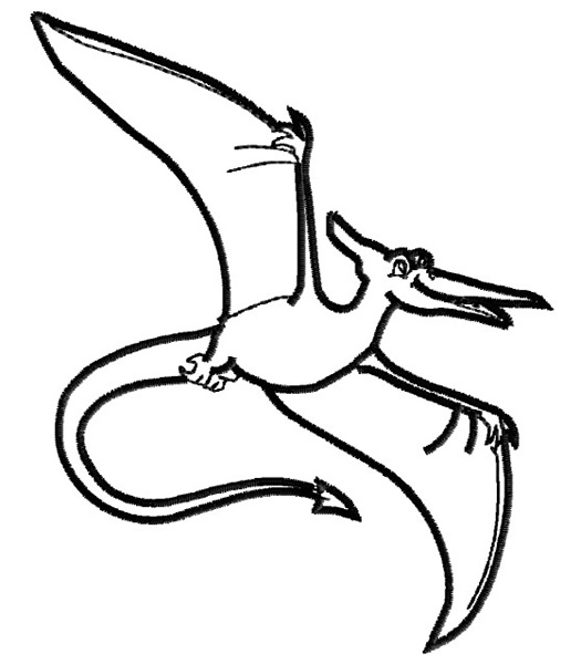 525x600 pterodactyl drawing for free download