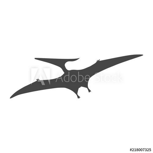 500x500 pterodactyl icon, vector drawing, pteranodon bird