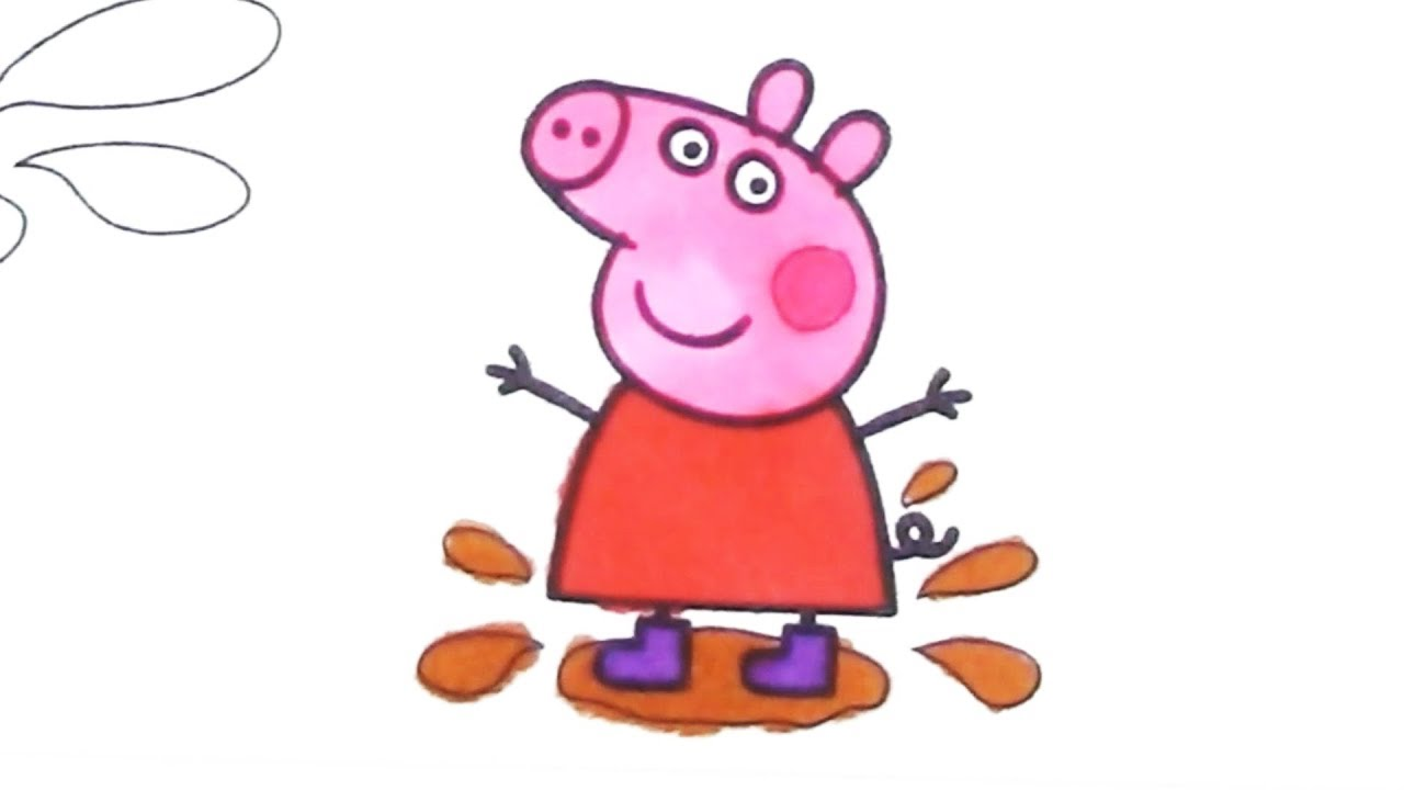 1280x720 peppa and george love jumping in muddy puddles how to draw peppa