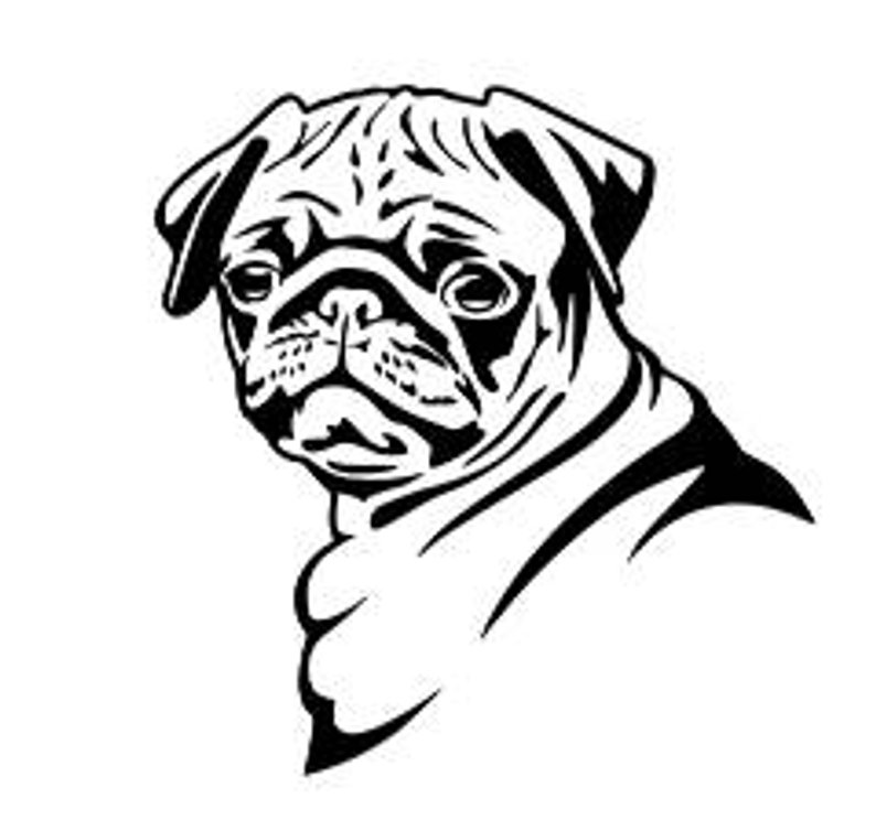 794x744 pug dog pug dog decal pug dog sticker dog decal yeti etsy