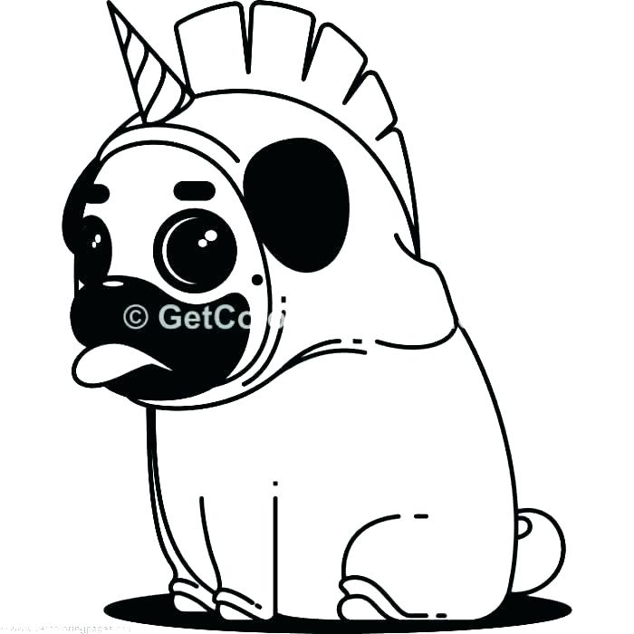 Pug Outline Drawing Free Download Best Pug Outline Drawing
