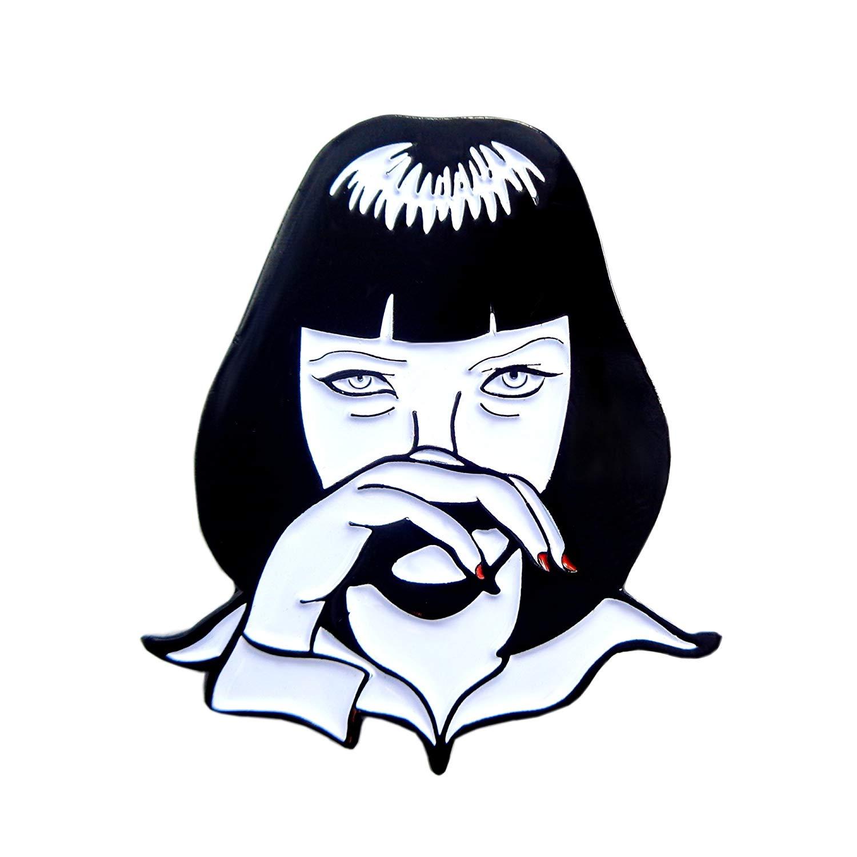 1500x1500 Mia Wallace Pulp Fiction Pin Movie Collector Enamel Lapel