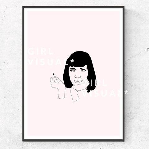 480x480 Mia Wallace Pulp Fiction Print Deets