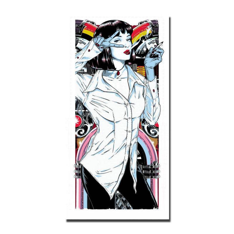 800x800 Pulp Fiction Classic Movie Art Silk Poster Inch Uma