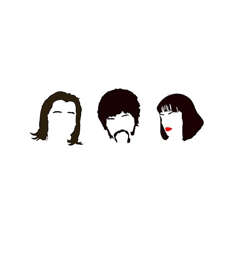 495x550 Pulp Fiction Minimalistic Silhouettes Posters