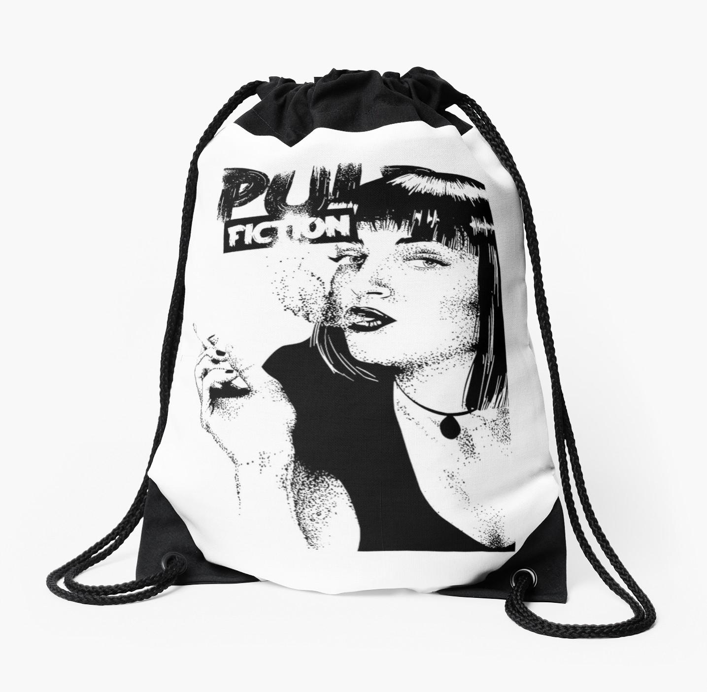 1435x1404 A Series Of Pulp Fiction Drawstring Bag