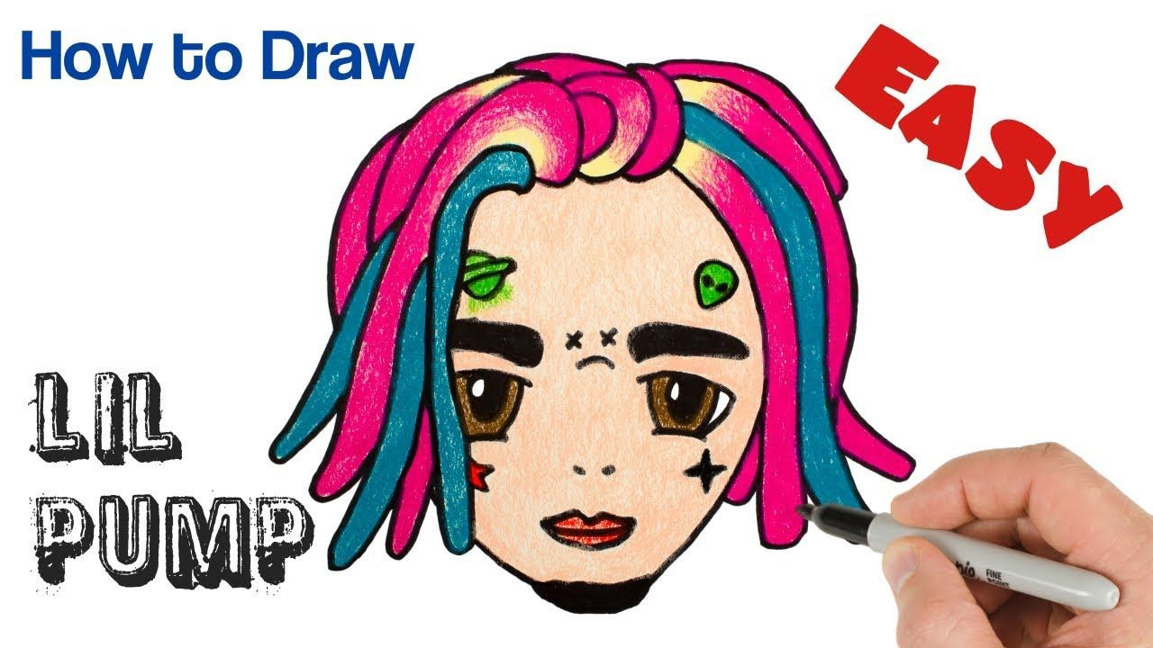 1280x720 how to draw lil pump cute and easy rappers drawings lil pump