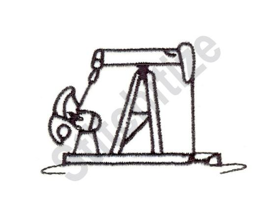 570x456 pump jack outline machine embroidery design pump jack etsy