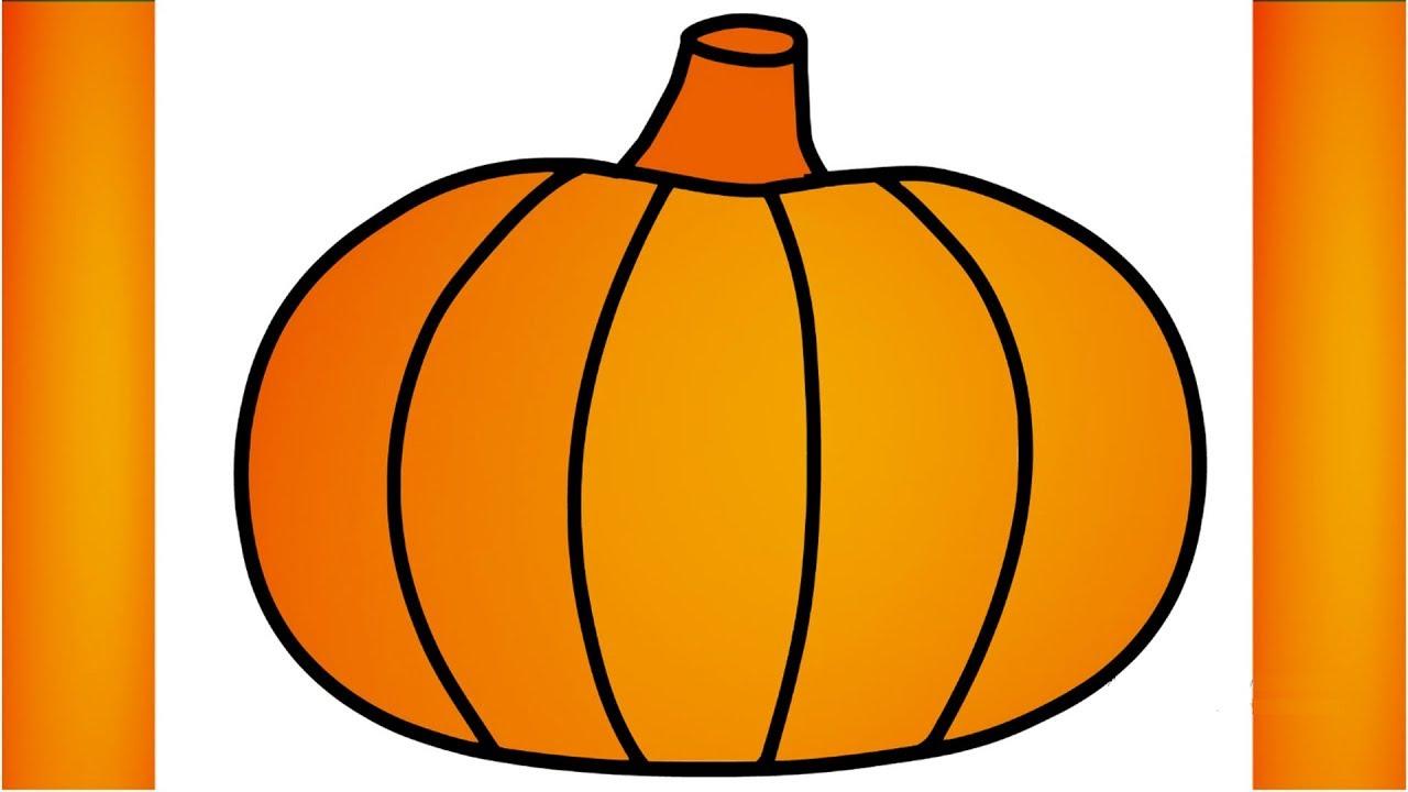 1280x720 pumpkin drawing for kids pumpkin color pumpkin draw and color