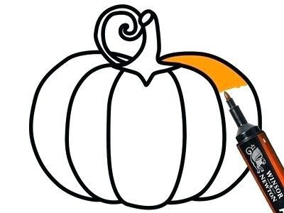 400x300 how to draw an easy pumpkin easy fabric pumpkin easy draw pumpkin