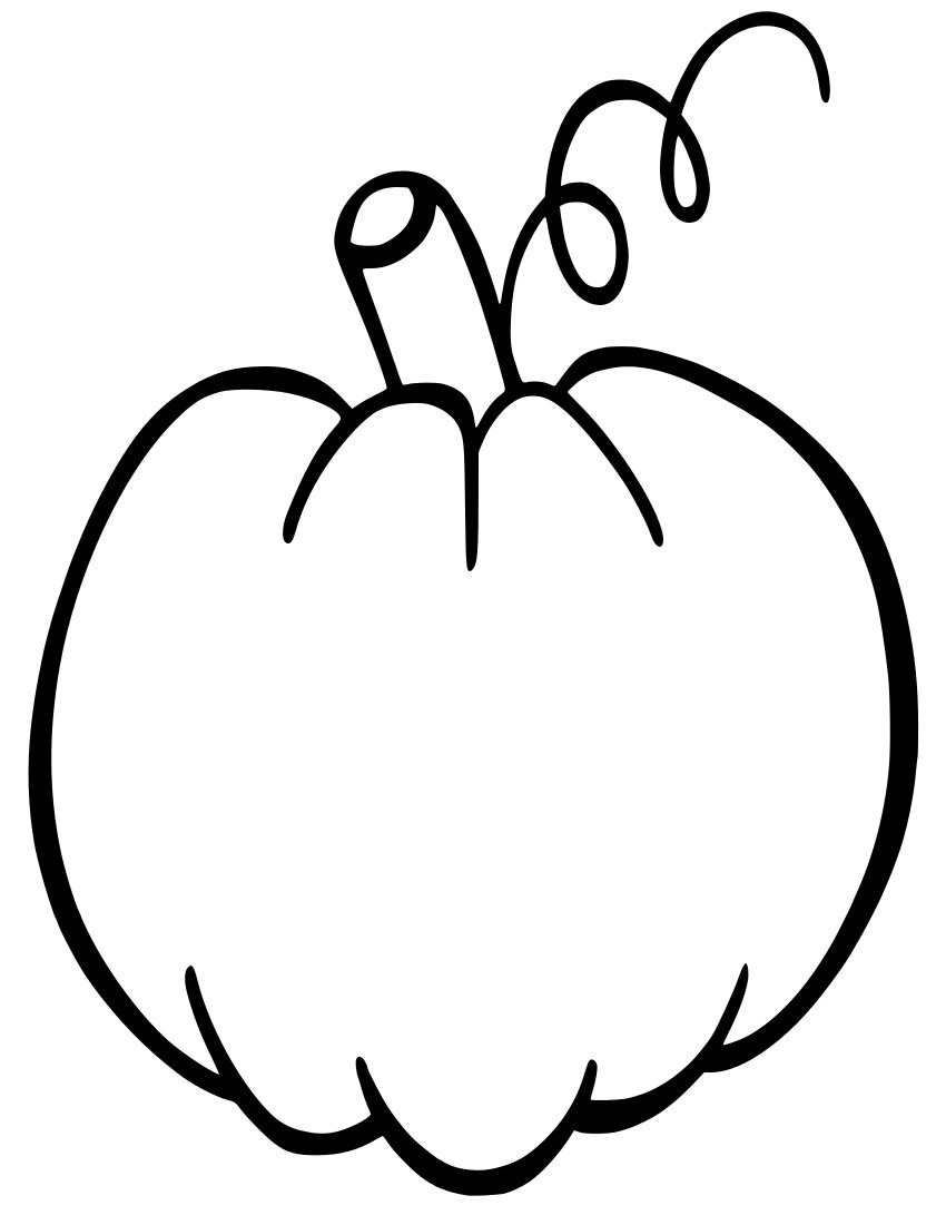 850x1100 Pumpkin Drawing Outline For Free Download