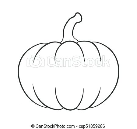 450x422 Pumkin Outline Pumpkn Symbol Design Vector Illustration