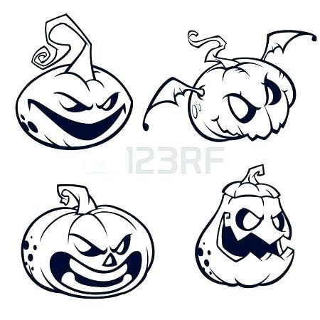 450x450 Pumpkin Outline Coloring