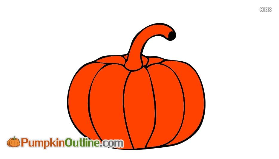 934x534 Pumpkin Outline Drawing