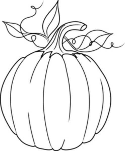 496x600 Pumpkin Leaves Clipart