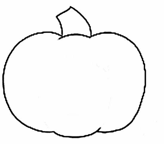549x480 Pumpkin Outline
