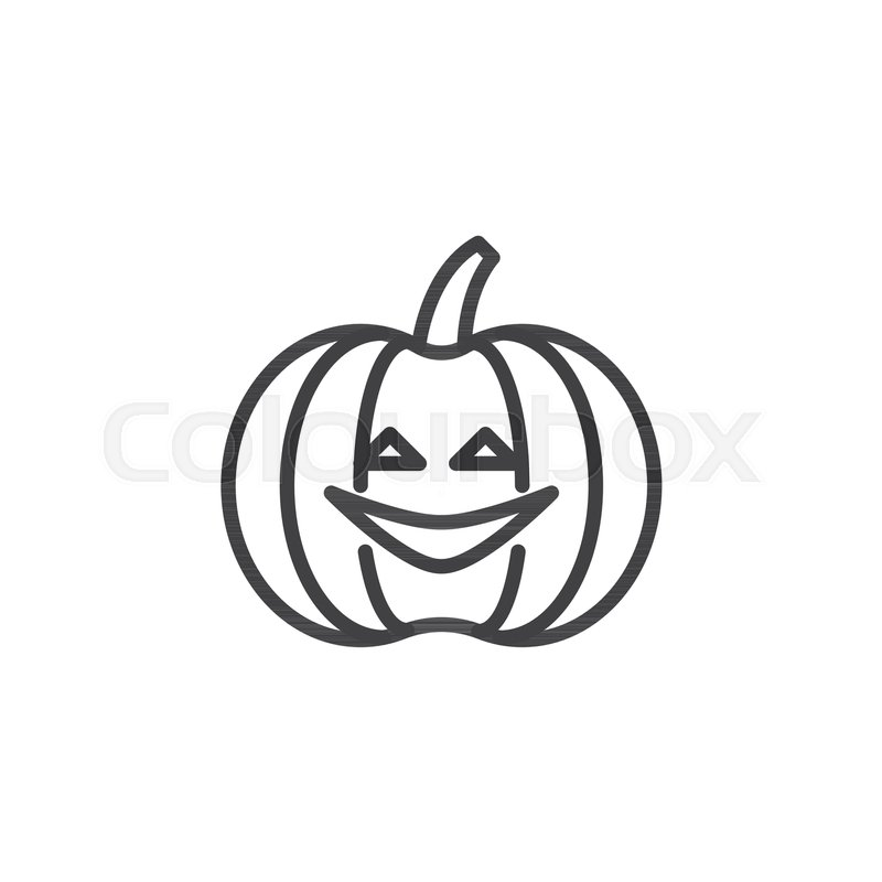 800x800 Halloween Pumpkin Outline Icon Linear Stock Vector Colourbox