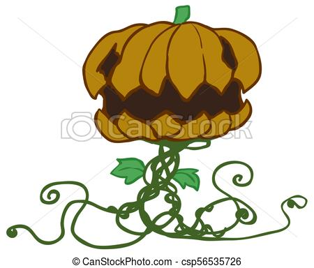 450x384 halloween pumpkin plant cartoon halloween pumpkin plant character