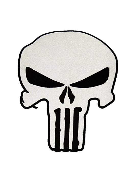 494x741 large biker jacket patch punisher skull patch iron or sew