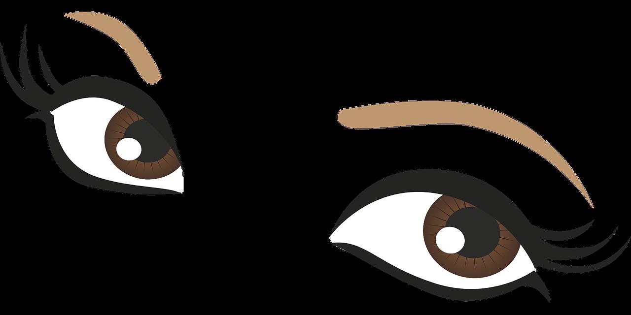 1280x640 Eyes Brown Drawing Pupil Png