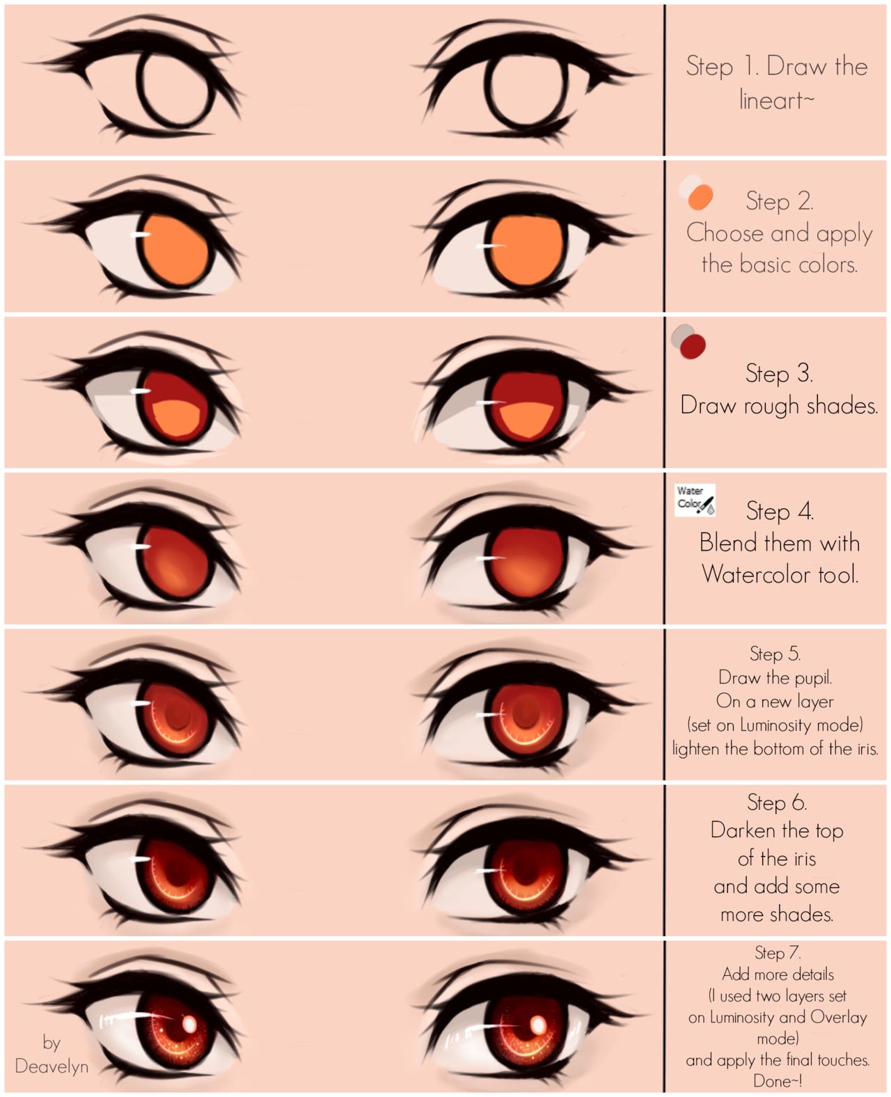 1280x1576 Eyes Coloring Tutorial
