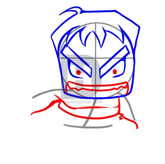 557x552 How To Draw Chibi Hulk, Step