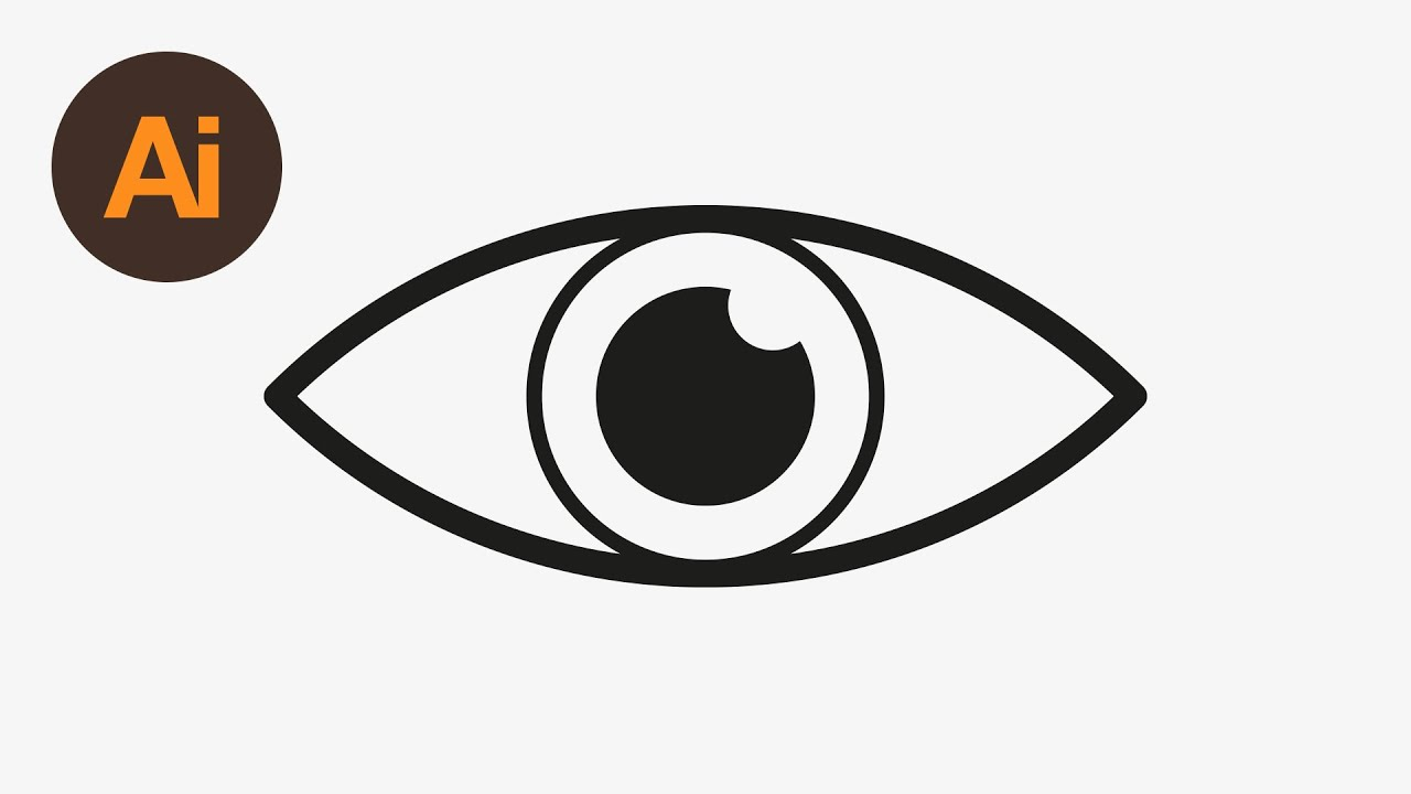 1280x720 Learn How To Draw An Eye Icon In Adobe Illustrator Dansky