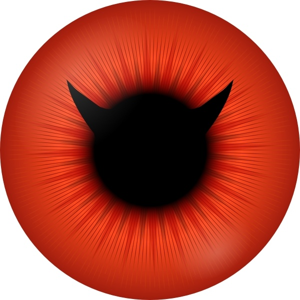 600x600 Red Iris With Devil Pupil Clip Art Free Vector In Open Office