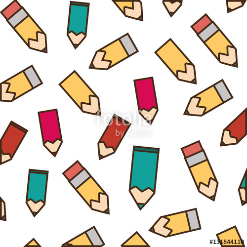 500x500 Drawing Pink Bag School Pupil Vector Illustration Stock