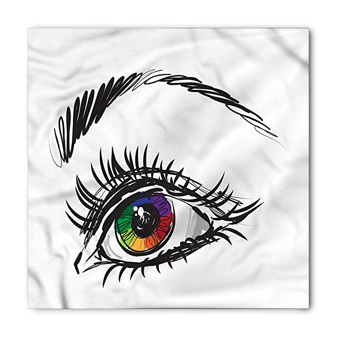 679x679 ambesonne eye bandana, colorful pupil of a woman