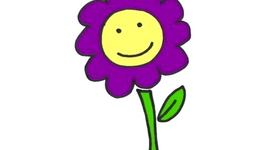Purple Flower Drawing Free Download On Clipartmag