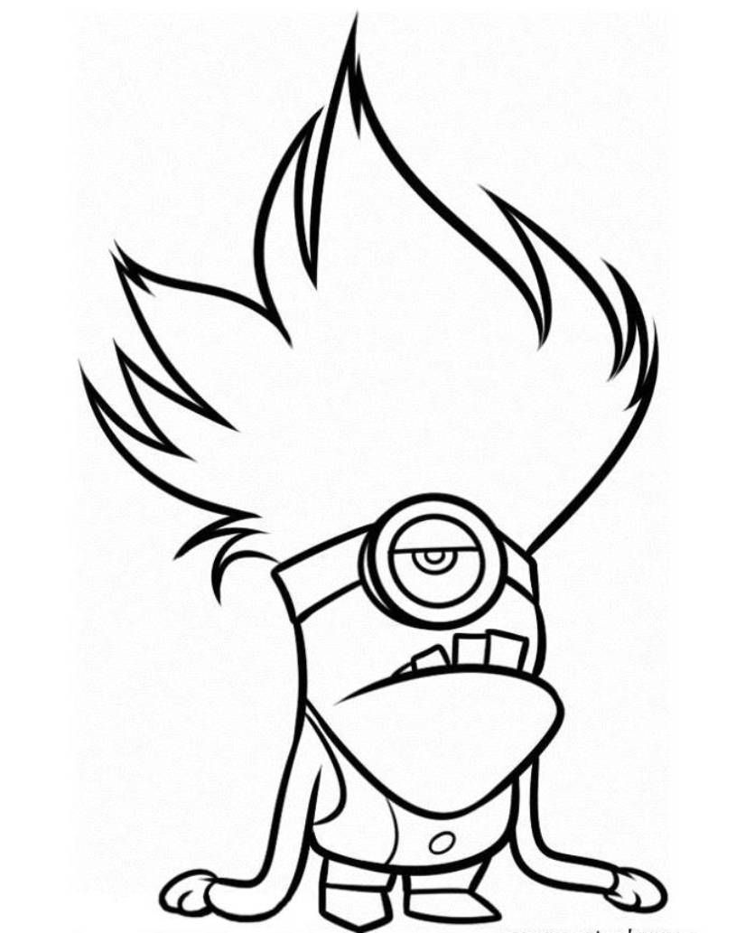 Kleurplaat Paarse Minion Purple Minion Drawing Free Download On Clipartmag