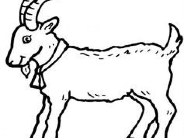 640x480 Free Drawn Goat, Download Free Clip Art