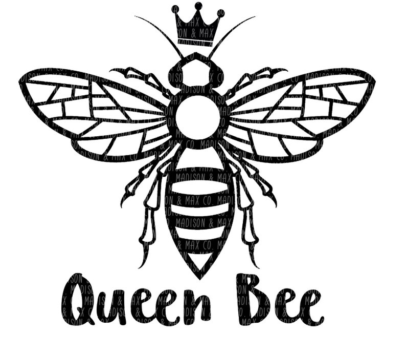 794x693 Queen Bee Png Dxf Silhouette Cricut Etsy
