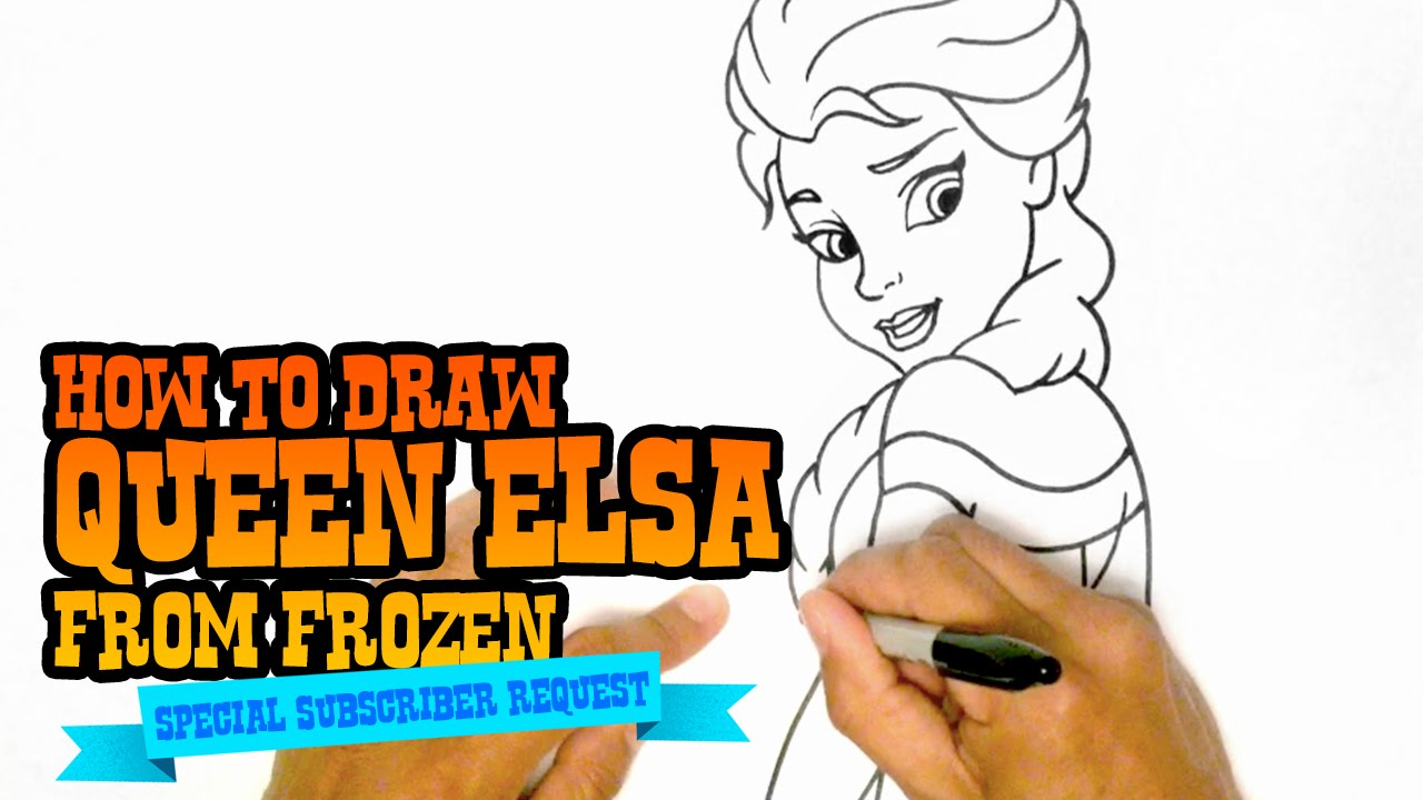 1280x720 How To Draw Queen Elsa From Frozen
