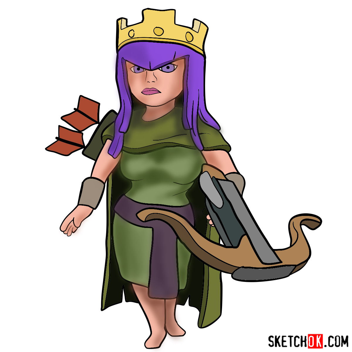1200x1200 How To Draw Archer Queen From Clash Of Clans