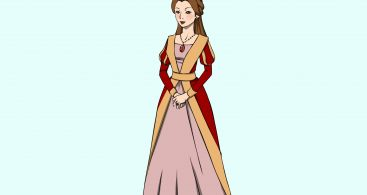 367x195 Medieval Queen Drawing Vector Archives