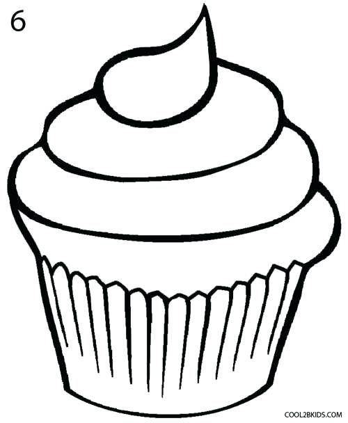 500x608 How To Draw A Cupcake Step