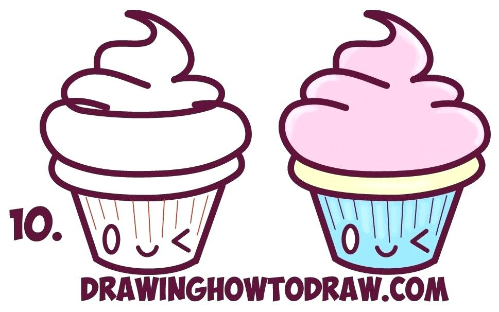 969x606 How To Draw A Cupcake Step