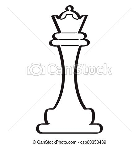 450x470 sketch of a queen chess piece retro sketch of a queen chess piece