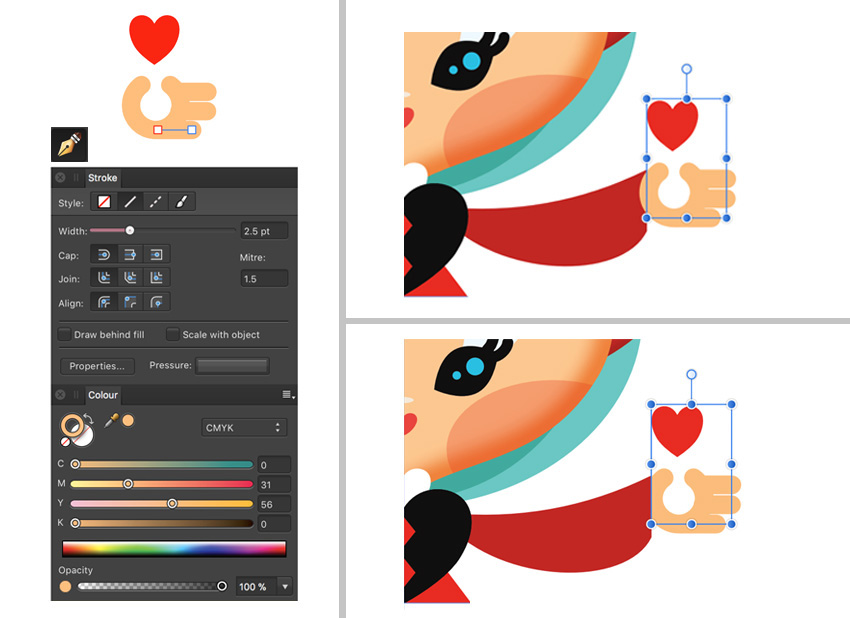 850x618 How To Create A Queen Of Hearts Playing Card With Affinity