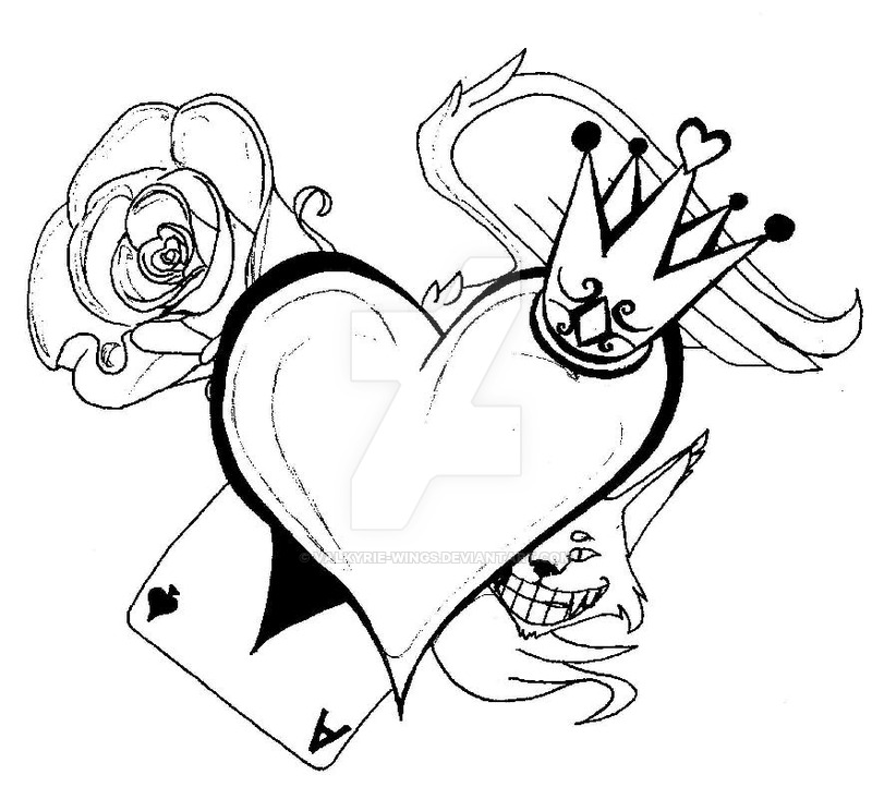 800x722 Queen Drawing Heart For Free Download