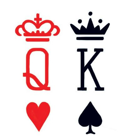 399x444 King Queen Cards Tattoo