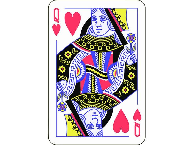 794x597 Queen Of Hearts Playing Card Gambling Gamble Casino Bet Etsy