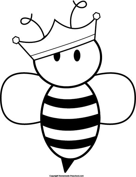453x586 Queen Bee Clipart Black And White