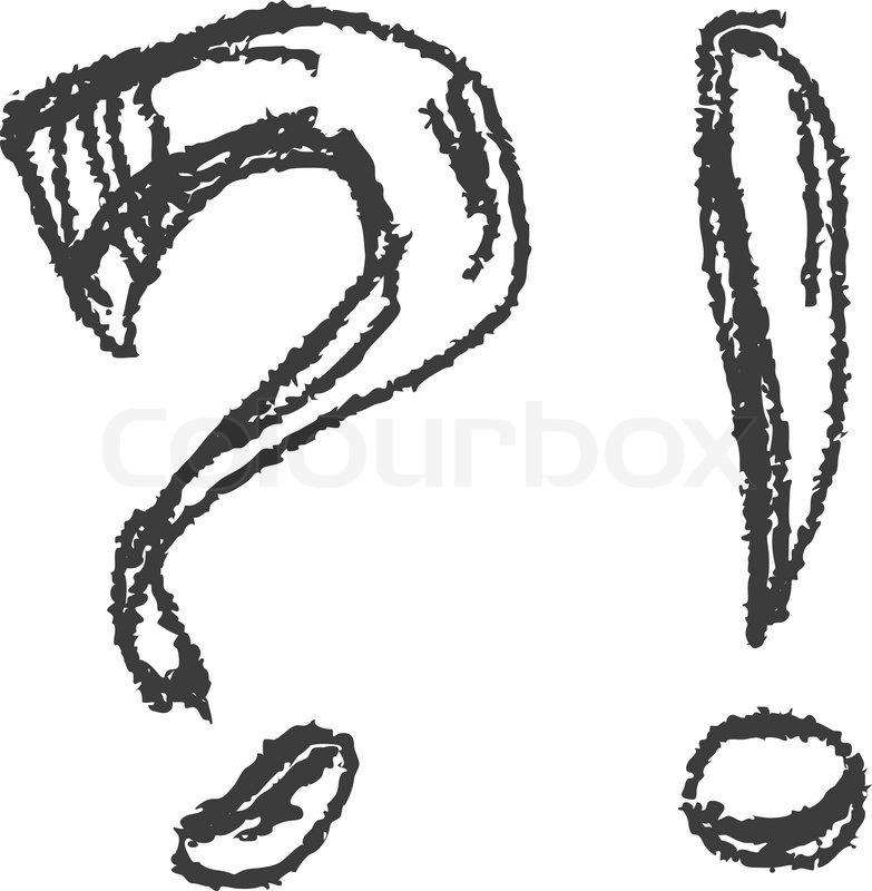 783x800 question mark exclamation mark hand stock vector colourbox