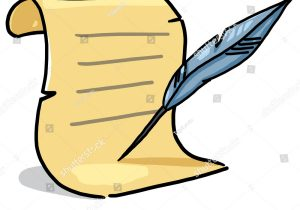 300x210 drawing with a quill pen quill pen hand drawing clipart royalty