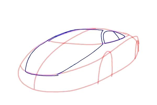 600x400 Cool Cars Drawings Running