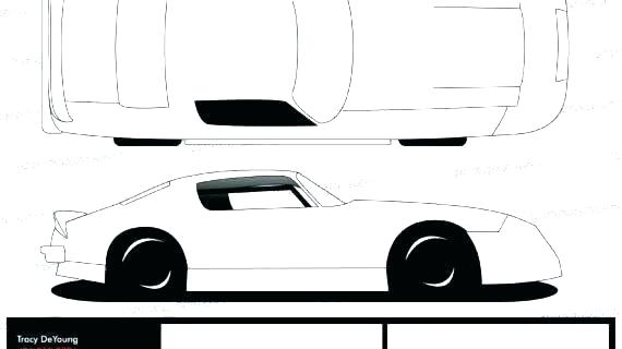 570x320 Car Drawing Template Vector Sprint Coloring Pages Sports Race